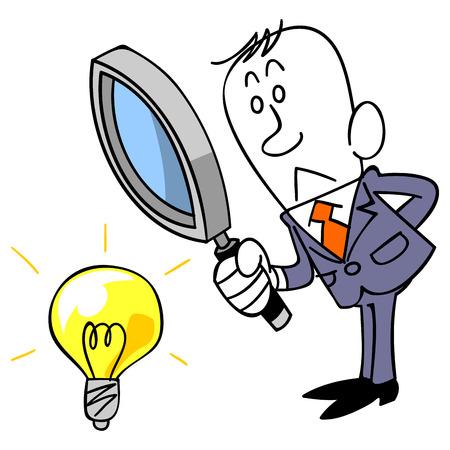 ビジネスマンのアイデアを検証するには 写真素材 - 33415310