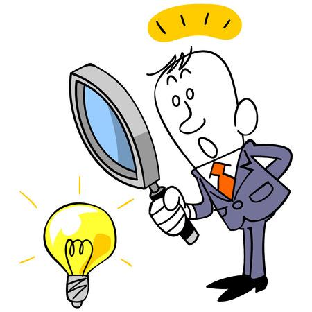 ビジネスマンを見つけるのアイデア 写真素材 - 33415311