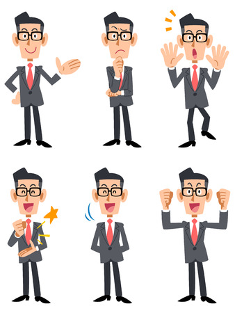 Man's suits you glasses (frontal)