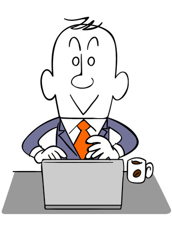 salaried: Businessman using a laptop