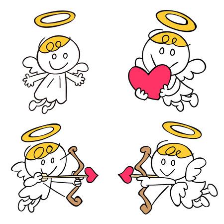 hart: Angel of illustrations 4 pose set