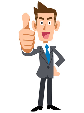 thumbsup: Young businessman to thumbsup Illustration