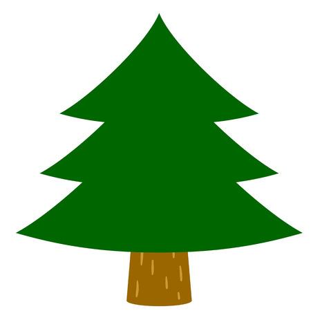 Cedar trees, fir tree Vector