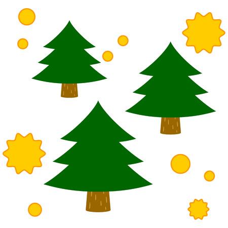 Cedar trees that spread the pollen Vector