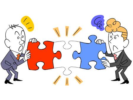 businessman puzzle pieces is not enough