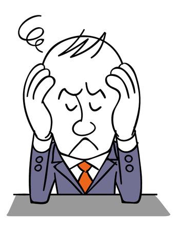 molesto: empresario sufrimiento Vectores