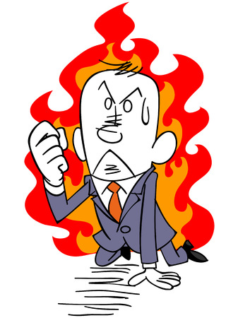 stumble: businessman burning to give up without passion