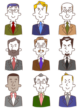 Of the various men in suits Vector