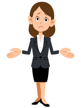 Amazed businesspeople female Stock Vector - 40702631