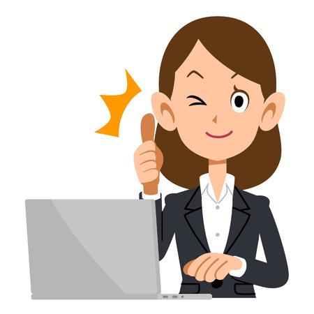 ap: Some AP to businesswomen Illustration