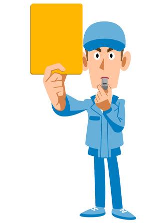 Work crews shown yellow cards