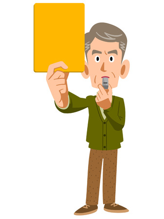 older men: Older men show the yellow card
