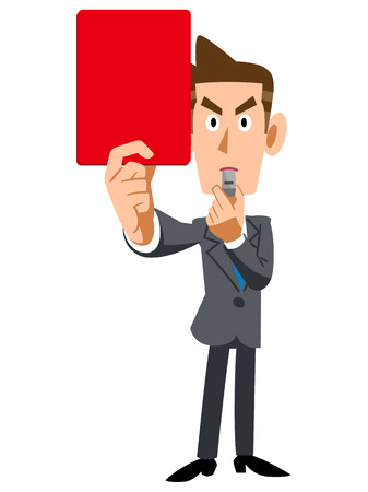 penal: Businessman showing Red