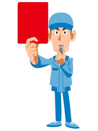 Work crews shown red card