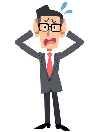 Worried businessman in glasses