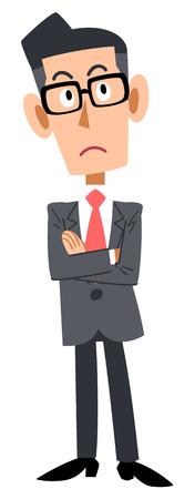 A bespectacled businessman, wonders Illustration