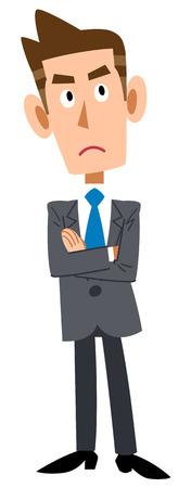 illustrate i: Businessman ponders Illustration