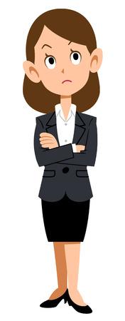 Business vrouw denken Stock Illustratie