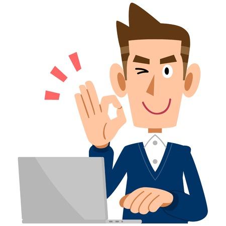 gente exitosa: Los hombres que muestran signo de OK