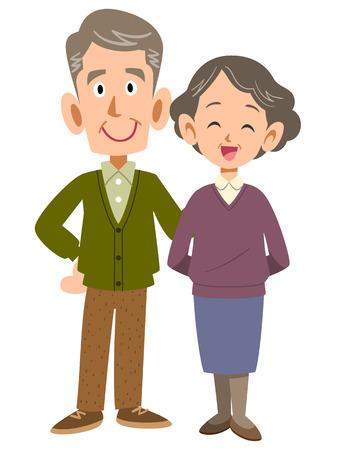 pflegeversicherung: L�chelnd paar Illustration