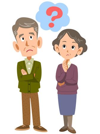 vecchiaia: vecchia coppia think