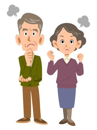 mature men: Couple gets angry