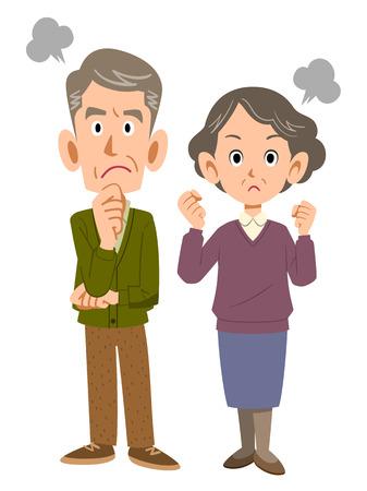 pareja enojada: Pareja se enoja