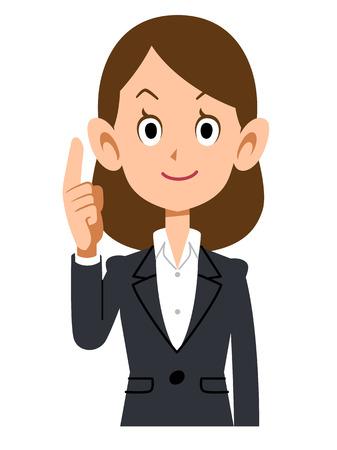 Index finger to suit women