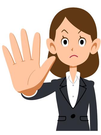 Women's suit to stop