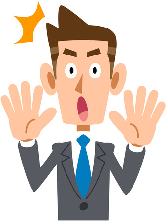 salaried worker: Businessman surprised Illustration