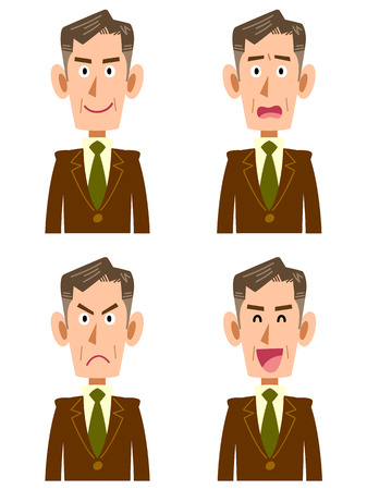 general manager: Senior corporate look Illustration