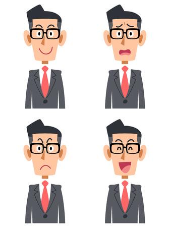 salaried worker: Businessman glasses facial