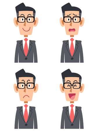 Businessman glasses facial