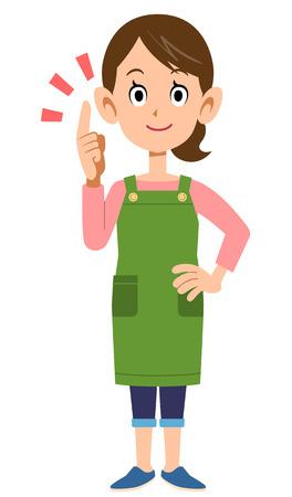 mujer ama de casa: Ama de casa para ilustrar puntos