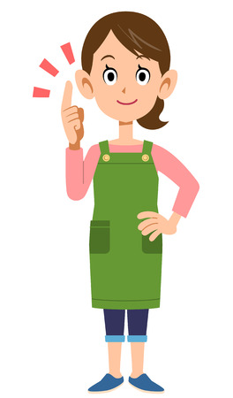 illustrate: Housewife to illustrate points