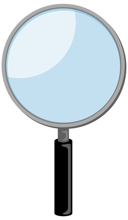 close out: Magnifying glass Illustration
