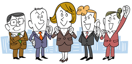 business team: Women with business team
