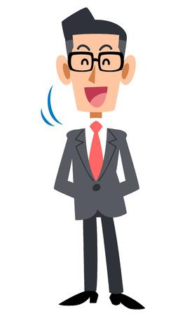 眼鏡をかけたビジネスマンうなずく