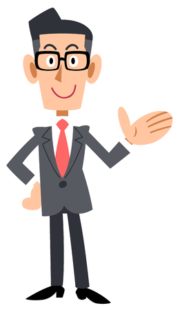 To introduce the bespectacled businessman