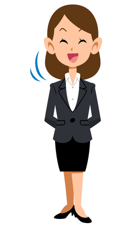 ol: Women in suits nodding with a smile Illustration