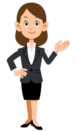 To introduce women in suits Illustration
