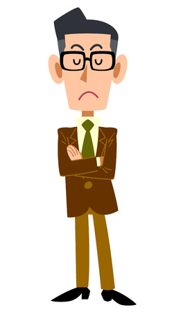 the whole body: Think brown jacket men Illustration