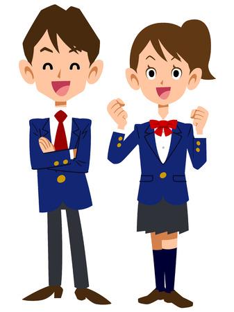 uniforme escolar: estudiantes sonrisa