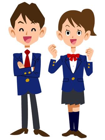 school uniforms: Smile students Illustration