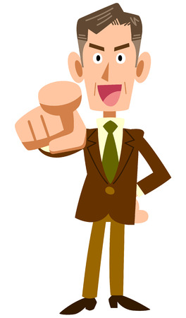 nomination: Senior businessman pointing Illustration