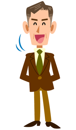 mature business man: Senior businessman nodded with a smile Illustration
