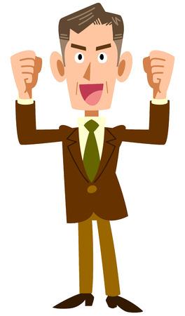managerial: Senior businessmen get excited