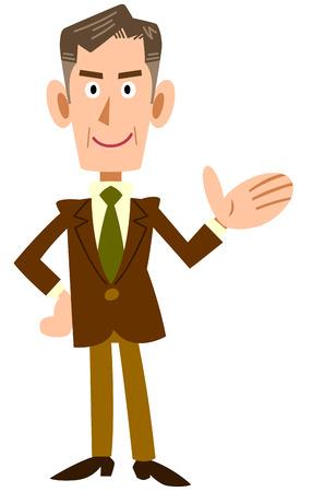 introduce: Older businessmen to introduce