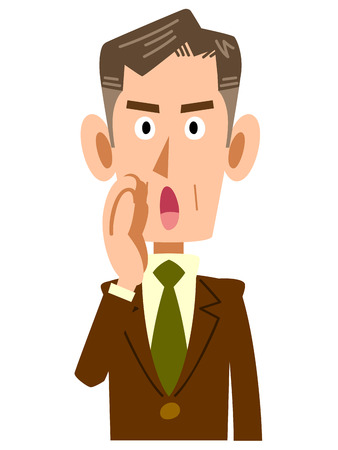 business for the middle: Of older businessmen whisper