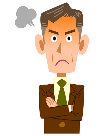 irate: Of older businessmen to get angry
